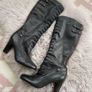 Sam Edelman Sanford Black Red Lace Up Knee Boots